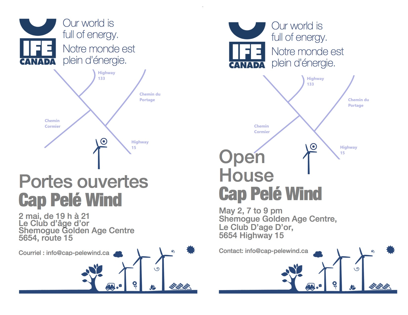 Cape Pele Open House May 2 — email notice